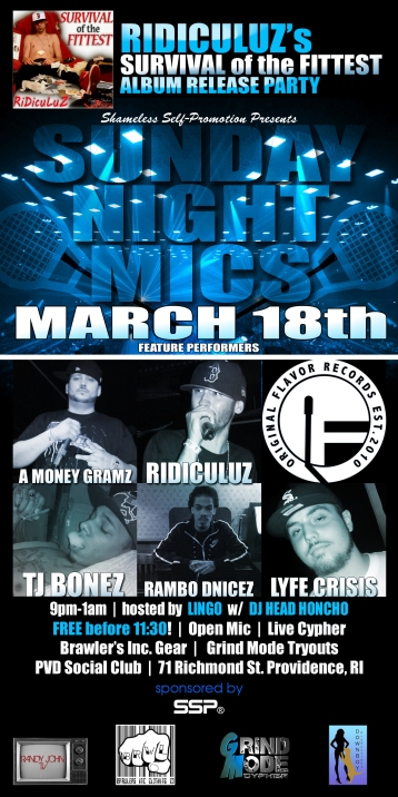 Ridiculuz's 'Survival of the Fittest' album release party